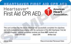 AHA CPR & First-aid class