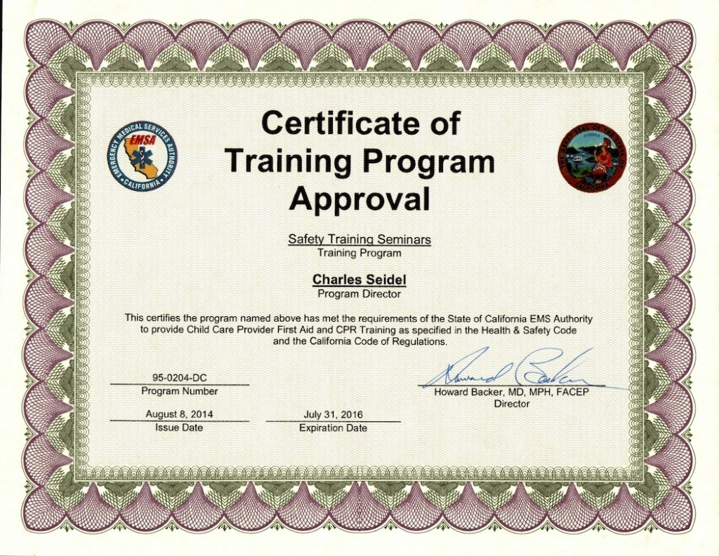 San Mateo EMSA Certification