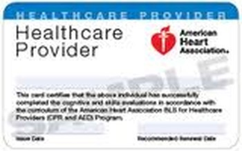 American Heart Associaton BLS Renewal