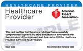 American Heart Associaton BLS Renewal