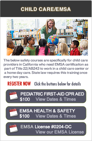 EMSA Pediatric First-aid Classes in RWC