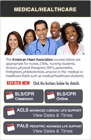 BLS, ACLS and PALS Classes in Redwood City